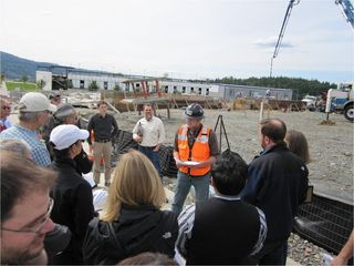 Construction tours for the zero energy Zhome in Issaquah, WA were part of an educational program, www.z-home.org